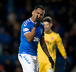 04.03.2020: Rangers v Hamilton: Alfredo Morelos raging as James Tavernier fails to spot him for a cross in front of goal