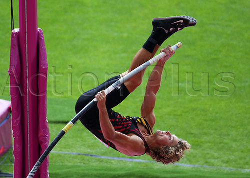 August 6th 2017, London Stadium, East London, England; IAAF World Championships, Day 3; Arnaud Art of Belgium competing in the Men's Pole Vault Qualification