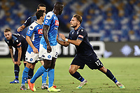 Ciro Immobile of SS Lazio complaints<br /> during the Serie A football match between SSC  Napoli and SS Lazio at stadio San Paolo in Naples ( Italy ), August 01st, 2020. Play resumes behind closed doors following the outbreak of the coronavirus disease. <br /> Photo Cesare Purini / Insidefoto
