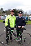 Operation Transformation Leader Mark McArdle with Superintendent Ray Brennan at the Operation Transformation 10km cycle from Ardee Parish Centre.