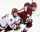 Joe Whitney (BC - 15), Marc Concannon (UMass - 21) - The Boston College Eagles defeated the University of Massachusetts-Amherst Minutemen 5-2 on Saturday, March 13, 2010, at Conte Forum in Chestnut Hill, Massachusetts, to sweep their Hockey East Quarterfinals matchup.