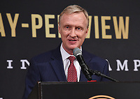 BEVERLY HILLS - MAY 22: Fox's Jimmy Lennon Jr. speaks at the press conference for the Manny Pacquiao vs Keith Thurman Premier Boxing Champions on FOX Sports Pay-Per-View fight on July 20 in Las Vegas. (Photo by Frank Micelotta/Fox Sports/PictureGroup)