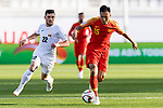 Wu Xi of China (R) is followed by Anton Zemlianukhin of Kyrgyz Republic (L) during the AFC Asian Cup UAE 2019 Group C match between China (CHN) and Kyrgyz Republic (KGZ) at Khalifa Bin Zayed Stadium on 07 January 2019 in Al Ain, United Arab Emirates. Photo by Marcio Rodrigo Machado / Power Sport Images