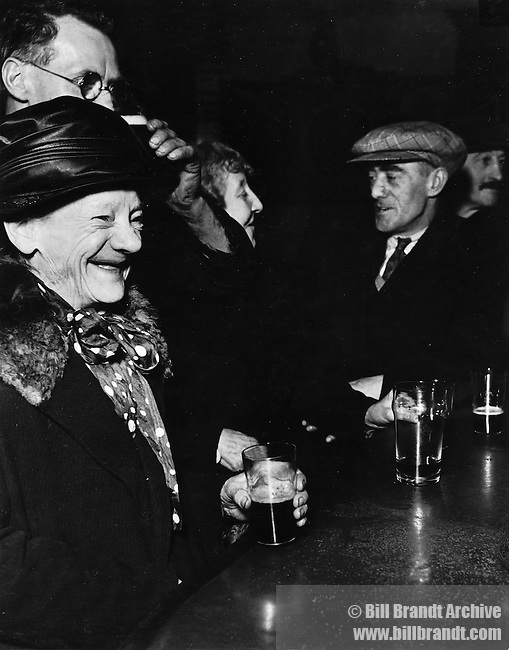 Customers of the Crooked Billet pub, London