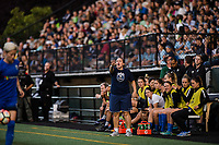 Seattle, WA - Sunday September 24, 2017: Laura Harvey during a regular season National Women's Soccer League (NWSL) match between the Seattle Reign FC and FC Kansas City at Memorial Stadium.