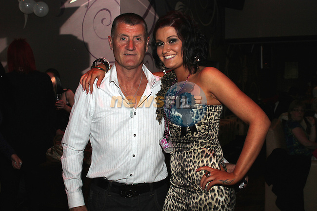 Niamh O'Connell with her dad Pat celebrating her 21st in O'Neill's of Duleek...(Photo credit should read www.newsfile.ie)....This Picture has been sent you under the conditions enclosed by:.Newsfile Ltd..The Studio,.Millmount Abbey,.Drogheda,.Co Meath..Ireland..Tel: +353(0)41-9871240.Fax: +353(0)41-9871260.GSM: +353(0)86-2500958.email: pictures@newsfile.ie.www.newsfile.ie.