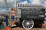 Whitstable Oyster Festival, Kent England 2007. Kelly Naylor enjoying the festival.