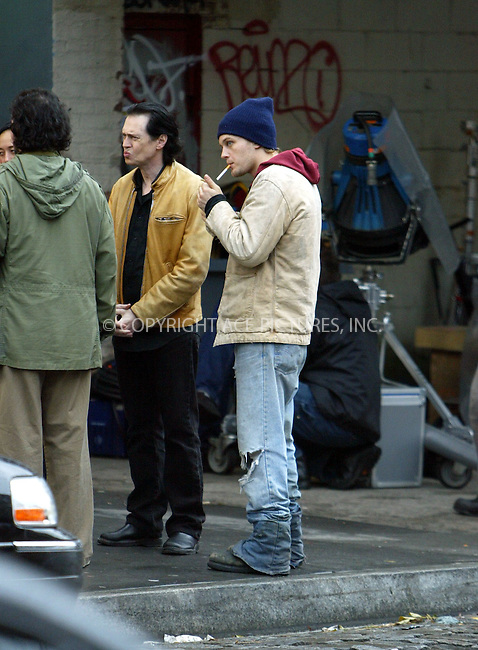 """WWW.ACEPIXS.COM . . . . .  ....November 29 2005, New York City........MICHAEL PITT, STEVE BUSCEMI....""""DELIRIOUS"""" is currently filming on the streets of New York City. Directed by Tom DiCillo, the movie follows a paparazzi photographer (Steve Buscemi) who befriends a homelss man (Michael Pitt). Pitt's character becomes involved with a pop star played by Alison Lohman and the relationship between the three begins to unravel.....Please byline: JENNIFER L GONZELES - ACEPIXS.COM.... *** ***..Ace Pictures, Inc:  ..Philip Vaughan (212) 243-8787 or (646) 769 0430..e-mail: info@acepixs.com..web: http://www.acepixs.com"""