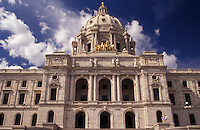 AJ2864, St. Paul, State Capitol, State House, Twin cities, Minnesota, State Capitol Building in the capital city of Saint Paul in the state of Minnesota.