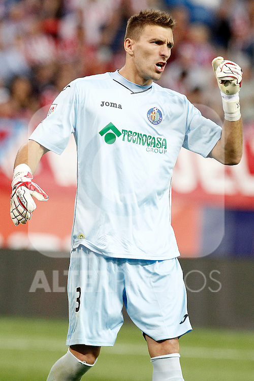 Getafe's  Vicente Guaita during La Liga match.September 22,2015. (ALTERPHOTOS/Acero)