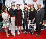 Charlotte St. Martin, Nina Lannan, Julie Menin, Alex Brightman, Laura Penn and Anthony DePaulo attends the 8th Annual Broadway Salutes Presentation at Shubert Alley on September 20, 2016 in New York City.