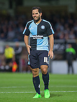 Sam Wood of Wycombe Wanderers during the Capital One Cup match between Wycombe Wanderers and Fulham at Adams Park, High Wycombe, England on 11 August 2015. Photo by Andy Rowland.
