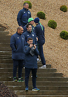 Coaching staff of the Republic of Ireland team watch the training during the Swansea City Training at The Fairwood Training Ground, Swansea, Wales, UK. Wednesday 11 October 2017