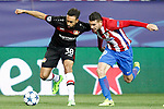 Atletico de Madrid's Lucas Hernandez (l) and Bayer 04 Leverkusen's Karim Bellarabi during Champions League 2016/2017 Round of 16 2nd leg match. March 15,2017. (ALTERPHOTOS/Acero)