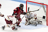 Kenzie Kent (BC - 12), Denisa Krížová (NU - 41), Katie Burt (BC - 33) -  The Boston College Eagles defeated the Northeastern University Huskies 2-1 in overtime to win the 2017 Hockey East championship on Sunday, March 5, 2017, at Walter Brown Arena in Boston, Massachusetts.