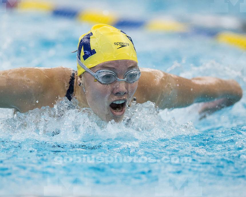 The University of Michigan women's swimming & diving team beat Wisconsin, 157-143, at Canham Natatorium in Ann Arbor Mich., on September 29, 2012.