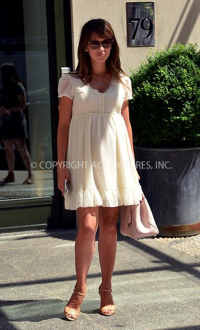 www.acepixs.com<br /> <br /> June 22 2016, New York City<br /> <br /> Pregenant Hilaria Baldwin leaves a downtown hotel on June 22 2016 in New York City<br /> <br /> By Line: Curtis Means/ACE Pictures<br /> <br /> <br /> ACE Pictures Inc<br /> Tel: 6467670430<br /> Email: info@acepixs.com<br /> www.acepixs.com