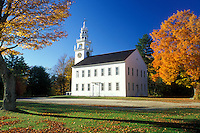 church, Jaffrey Center, New Hampshire, NH, Meeting House in Jaffrey Center in the autumn.