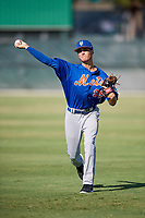 GCL Mets pitcher Zachary Hammer (95) warms up before a game against the GCL Cardinals on August 6, 2018 at Roger Dean Chevrolet Stadium in Jupiter, Florida.  GCL Cardinals defeated GCL Mets 6-3.  (Mike Janes/Four Seam Images)