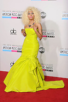LOS ANGELES, CA - NOVEMBER 18: Nicki Minaj attends the 40th Anniversary American Music Awards held at Nokia Theatre L.A. Live on November 18, 2012 in Los Angeles, California.PAP1112JP313..PAP1112JP313..