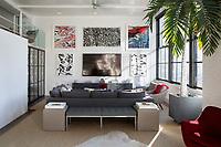 Modern red armchair
