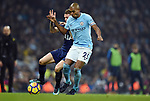 Kieran Trippier of Tottenham Hotspur is challenged by Fernandinho of Manchester City during the premier league match at the Etihad Stadium, Manchester. Picture date 16th December 2017. Picture credit should read: Robin ParkerSportimage