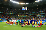 (L to R) <br /> Cote d'Ivoire team group (CIV), <br /> Japan team group (JPN), <br /> JUNE 14, 2014 - Football /Soccer : <br /> 2014 FIFA World Cup Brazil <br /> Group Match -Group C- <br /> between Cote d'Ivoire 2-1 Japan <br /> at Arena Pernambuco, Recife, Brazil. <br /> (Photo by YUTAKA/AFLO SPORT) [1040]