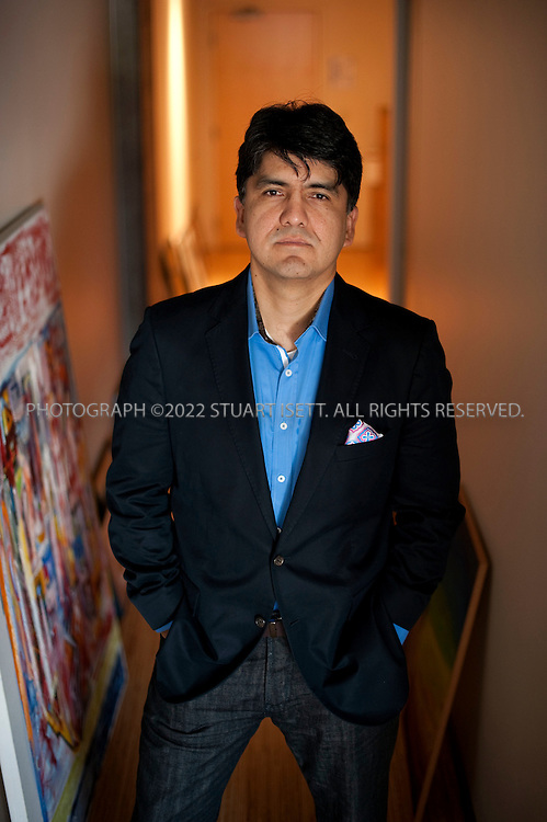 9/23/2009-- Seattle, WA, USA..Writer Sherman Alexie, born October 7, 1966, poses in his office in Seattle, WASH. Much of his writing draws on his experiences as a modern Native American, a member of the Spokane/Coeur d'Alene Indian tribe in Eastern Washington State...©2009 Stuart Isett. All rights reserved.