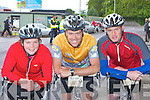 Sheila O'Connor, Joe Bythell and Alan Wallace Killarney enjoying the Ring of Kerry cycle in Killarney on Saturday..