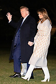 United States President Donald J. Trump, first lady Melania Trump and son Barron Trump arrive at the White House in Washington, DC on January 5, 2020. Trump is back at the White House after he spent 2 weeks at his resort, Mar-a-Lago in West Palm Beach, Florida for the holidays.<br /> Credit: Oliver Contreras / Pool via CNP