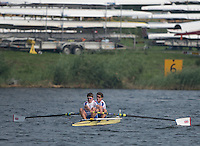 Rotterdam. Netherlands. GBR JM2-. Adam Teece and Matthew Rowe.&nbsp;row back to the boat house after their B final at the  2016 JWRC, U23 and Non Olympic Regatta. {WRCH2016}  at the Willem-Alexander Baan.   Sunday  28/08/2016 <br /> <br /> [Mandatory Credit; Peter SPURRIER/Intersport Images]
