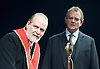 An Enemy of the People <br /> by Henrik Ibsen <br /> a version by Christopher Hampton <br /> at Chichester Festival Theatre, Chichester, West Sussex, Great Britain <br /> Press photocell <br /> 29th April 2016 <br /> <br /> <br /> Trevor Cooper as Morten Kiil <br /> Hugh Bonneville as Dr Tomas Stockmann <br /> <br /> <br /> <br /> Photograph by Elliott Franks <br /> Image licensed to Elliott Franks Photography Services