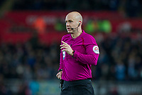 Referee Anthony Taylor during the EPL - Premier League match between Swansea City and Manchester City at the Liberty Stadium, Swansea, Wales on 13 December 2017. Photo by Mark  Hawkins / PRiME Media Images.