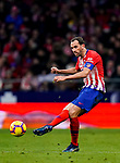 Diego Roberto Godin Leal of Atletico de Madrid in action during the La Liga 2018-19 match between Atletico de Madrid and RCD Espanyol at Wanda Metropolitano on December 22 2018 in Madrid, Spain. Photo by Diego Souto / Power Sport Images