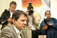 SAO PAULO, SP,06/06/2012 Fernando Haddad (PT). O pr&eacute;-candidato &agrave; Prefeitura de S&atilde;o Paulo, Fernando Haddad (PT) FOI recebido pela diretoria e coordenadores da APOGLBT (Associa&ccedil;&atilde;o da Parada do Orgulho GLBT de S&atilde;o Paulo), na manh&atilde; desta quarta-feira 6, na regi&atilde;o central de S&atilde;o Paulo.<br /> Na foto  Fernando Haddad (PT)<br /> FOTO VAGNER CAMPOS BRAZIL PHOTO PRESS
