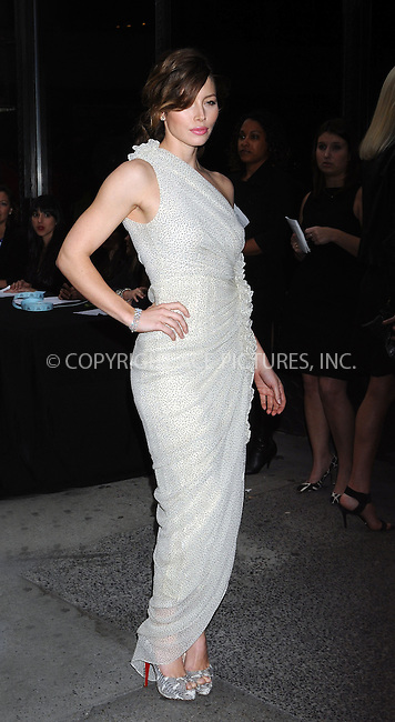 WWW.ACEPIXS.COM . . . . .  ....May 11 2009, New York City....Actress Jessica Biel arriving at a screening of 'Easy Virtue' hosted by The Cinema Society and The Wall Street Journal with Jaeger-Lecoultre and Brooks Brothers at the AMC Loews 19th Street on May 11, 2009 in New York City.....Please byline: AJ Sokalner - ACEPIXS.COM..... *** ***..Ace Pictures, Inc:  ..tel: (212) 243 8787..e-mail: info@acepixs.com..web: http://www.acepixs.com