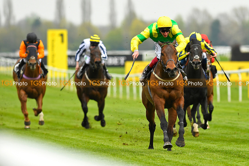 Winner of The Dubai Duty Free Handicap Stakes  Stake Acclaim ridden by AdamKirby and trained byDean Ivory  during Racing at Newbury Racecourse on 12th April 2019