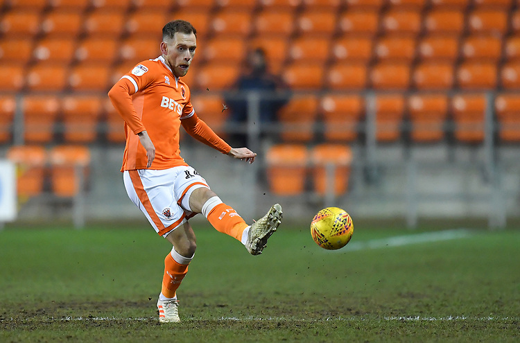 Blackpool's Harry Pritchard<br /> <br /> Photographer Dave Howarth/CameraSport<br /> <br /> The EFL Sky Bet League One - Blackpool v Wycombe Wanderers - Tuesday 29th January 2019 - Bloomfield Road - Blackpool<br /> <br /> World Copyright © 2019 CameraSport. All rights reserved. 43 Linden Ave. Countesthorpe. Leicester. England. LE8 5PG - Tel: +44 (0) 116 277 4147 - admin@camerasport.com - www.camerasport.com