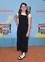 SANTA MONICA, CA - JULY 11:  Reece Caddell at Nickelodeon's Kids' Choice Sport 2019 at the Barker Hangar on July 11, 2019 in Santa Monica, California. (Photo by Scott KirklandPictureGroup)