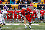 Mitch Goldberg (#25) attacks as UAlbany Men's Lacrosse defeats Richmond 18-9 on May 12 at Casey Stadium in the NCAA tournament first round.