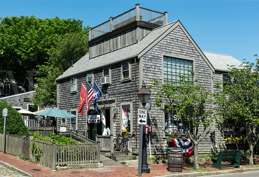 Charming shop exterior, Nantucket, Massachusetts, USA.