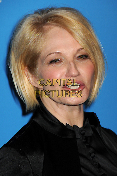 ELLEN BARKIN.UNICEF Ball 2009 Honoring Jerry Weintraub held at the Beverly Wilshire Hotel, Beverly Hills, California, USA..December 10th, 2009.headshot portrait mouth open black silk satin .CAP/ADM/BP.©Byron Purvis/AdMedia/Capital Pictures.