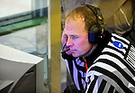 2 January 2011: Referee Tom Quinn watches a video replay during a game between the Army Black Knights and the Ohio State University Buckeyes at Gutterson Fieldhouse in Burlington, Vermont. The Buckeyes defeated the Black Knights 5-3 to win the 2010-2011 Catamount Cup. Mandatory Credit: Ed Wolfstein Photo