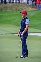 Justin Thomas (USA) barely misses his putt on 14 during round 3 Foursomes of the 2017 President's Cup, Liberty National Golf Club, Jersey City, New Jersey, USA. 9/30/2017.<br /> Picture: Golffile | Ken Murray<br /> <br /> All photo usage must carry mandatory copyright credit (&copy; Golffile | Ken Murray)