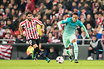 Neymar da Silva Santos Junior of FC Barcelona is followed by Raul Garcia of Athletic Club during their Copa del Rey Round of 16 first leg match between Athletic Club and FC Barcelona at San Mames Stadium on 05 January 2017 in Bilbao, Spain. Photo by Victor Fraile / Power Sport Images