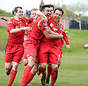Albion's Scott Chaplain (right) is congratulated after he scores the late winner with a spectacular over head kick .....