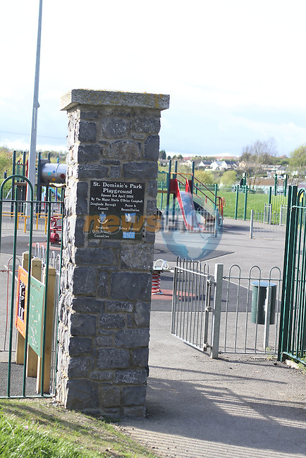 Dominics Park Playground...(Photo credit should read Jenny Matthews www.newsfile.ie)....This Picture has been sent you under the conditions enclosed by:.Newsfile Ltd..The Studio,.Millmount Abbey,.Drogheda,.Co Meath..Ireland..Tel: +353(0)41-9871240.Fax: +353(0)41-9871260.GSM: +353(0)86-2500958.email: pictures@newsfile.ie.www.newsfile.ie.