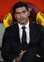Football, Serie A: AS Roma - , Olympic stadium, Rome, October 27, 2019. <br /> AS Roma' s coach Paulo Fonseca prior to the Italian Serie A football match between Roma and Milan at Olympic stadium in Rome, on October 27, 2019. <br /> UPDATE IMAGES PRESS/Isabella Bonotto