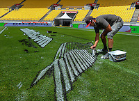 Sevens stadium preparation at Westpac Stadium in Wellington, New Zealand on Friday, 27 January 2017. Photo: Dave Lintott / lintottphoto.co.nz