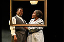 """London, UK. 01.11.2019. The West End transfer of the Young Vic prodution of Arthur Miller's """"Death of a Salesman"""", produced by Elliott & Harper Productions and Cindy Tolan, starring Wendell Pierce and Sharon D Clarke, begins its run at the Piccadilly Theatre in London, where it will run until 4th January 2020. Picture shows: Wendell Pierce (Willy Loman), Sharon D Clarke (Linda Loman). Photograph © Jane Hobson."""